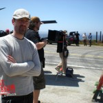 Director Michael Polish awaiting set up for the next shot