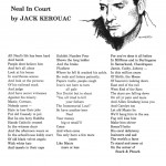 Neal in Court, poem by Jack Kerouac, with a lithograph by Carolyn Cassady