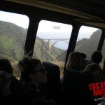 Bixby Canyon Bridge through the glass