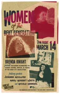 'Women of the Beat Generation', Friday, March 14th