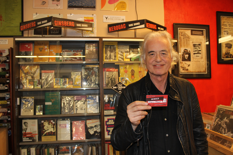 Jimmy Page, member of the Beat Museum