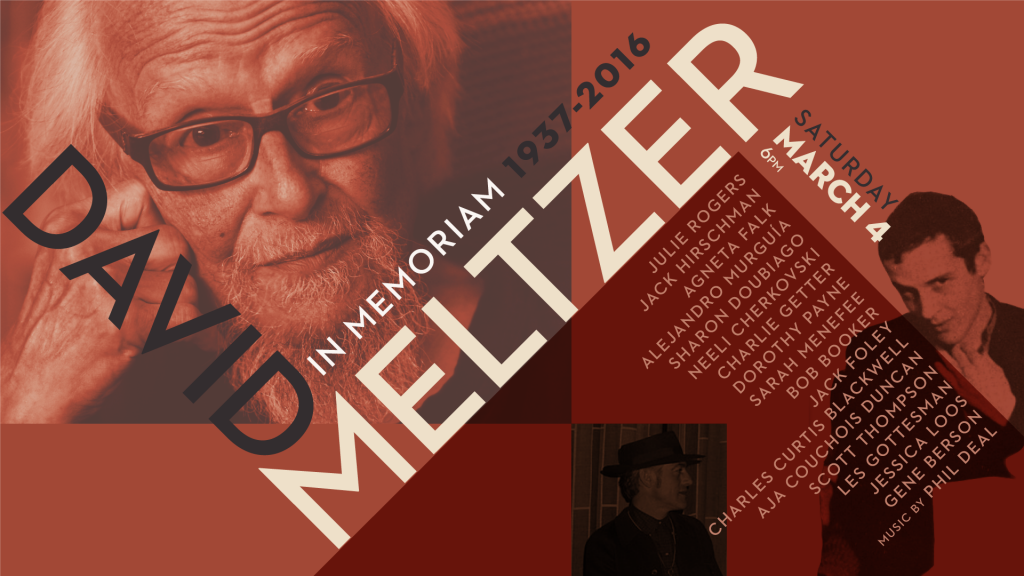 David Meltzer in Memoriam