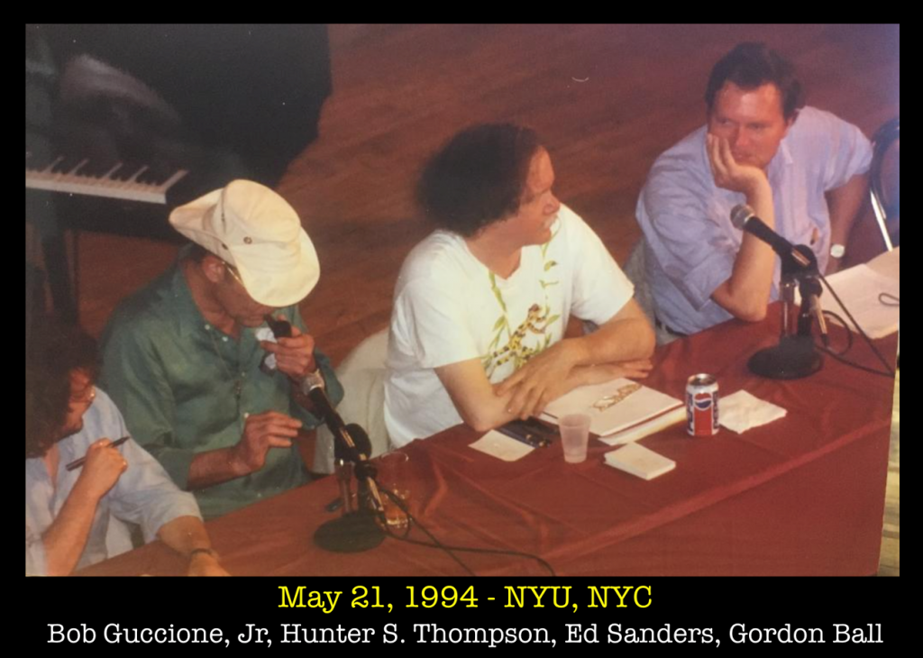 1994-05-21 NYU Bob Guccione Jr, Hunter S. Thompson, Ed Sanders, Gordon Ball