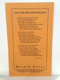 """""""i am in the hub of the fiery force"""" by Harold Norse"""