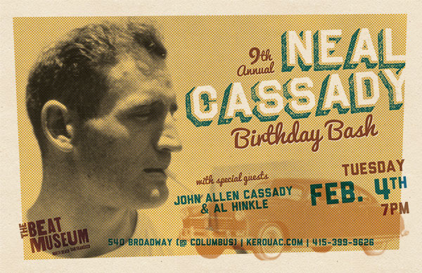9th Annual Neal Cassady Birthday Bash