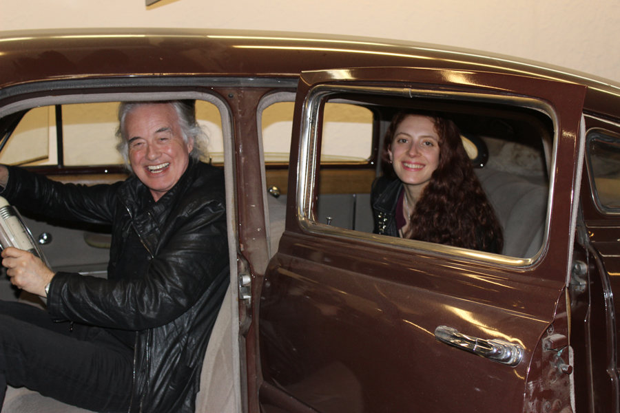 Jimmy Page & poet Scarlett Sabet in the '49 Hudson