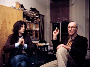 Jimmy Page and William Burroughs, photo by Charles Gatewood