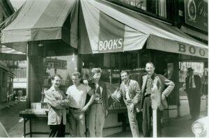 City Lights Books (Ferlinghetti is on the far right)