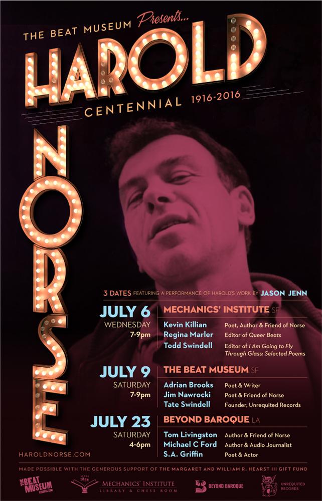 Harold Norse Centennial