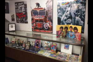 This display of original memorabilia confirms The Beat Museum's reach goes beyond the Beat poets. Photo © Romalyn Schmaltz