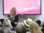 Estelle reading Diane di Prima (photo by Jerry Cimino)