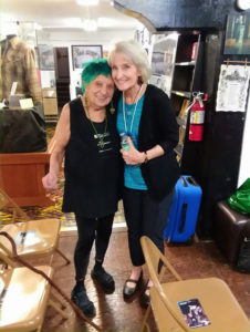 ruth weiss and Cathy Cassady (photo by George Sylvia)