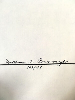 book of breeething signed william s burroughs