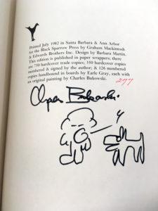 ham on rye charles bukowski signed first edition