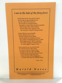 """i am in the hub of the fiery force"" by Harold Norse"