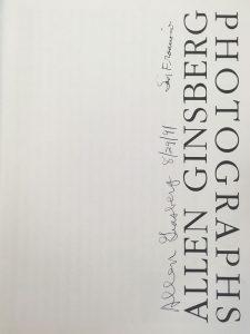 Allen Ginsberg: Photographs (signature)
