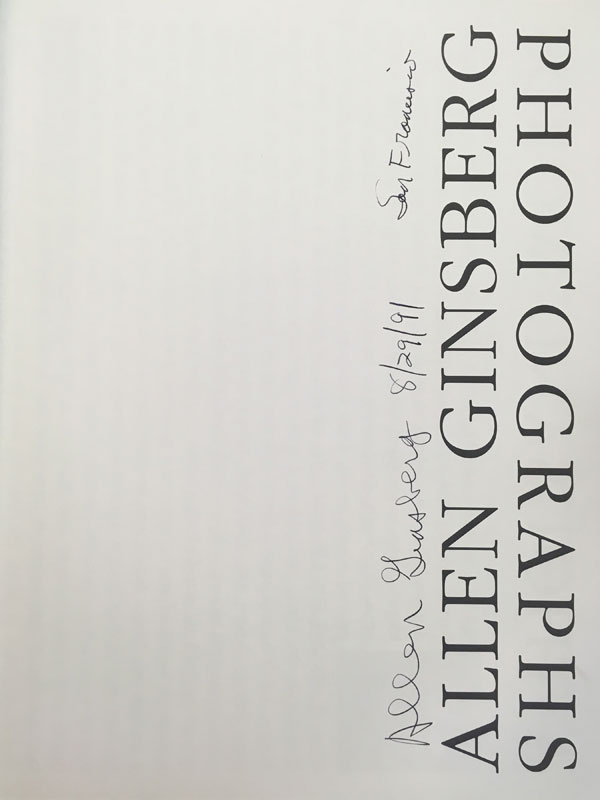 Allen Ginsberg: Photographs (signature)