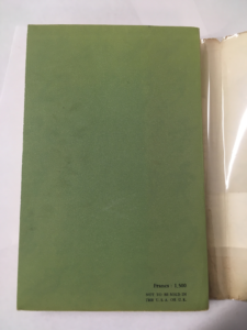 The Naked Lunch (1959) First Edition - Back Cover without Dust Jacket