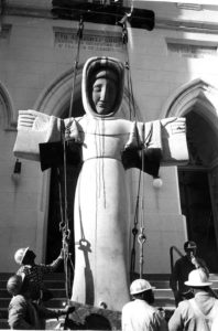 Saint Francis being moved, March 15, 1961