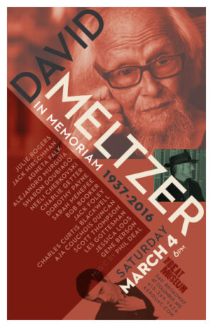 David Meltzer in Memoriam Poster