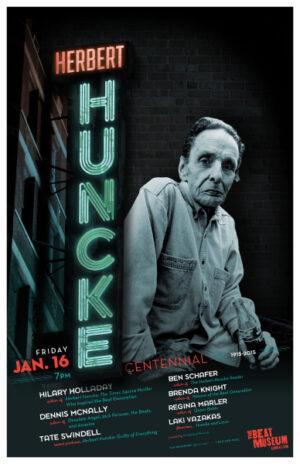 Herbert Huncke Centennial Poster