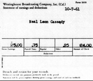 Cassady's Earnings Statement from Westinghouse