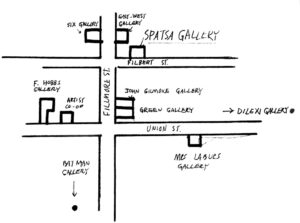 Map of the original Fillmore galleries