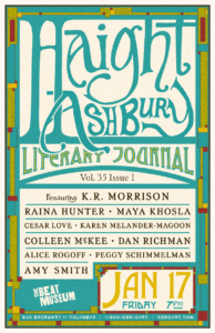 Haight Ashbury Literary Journal Poster