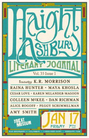 Haight Ashbury Literary Journal Poster