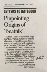 Pinpointing Origins of 'Beatnik'