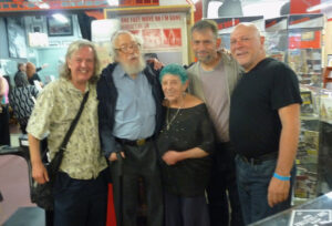 Brian Hassett, Gerd Stern, ruth weiss, Levi Asher, and Jerry Cimino at the Beat Museum, Beatnik Shindig 2015