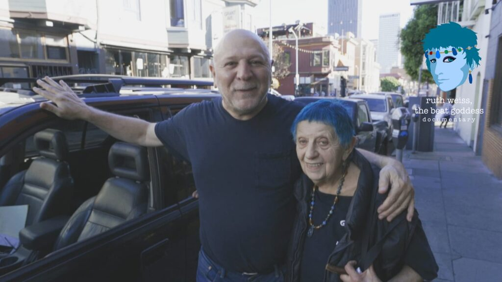 Jerry Cimino and ruth weiss on Grant Ave
