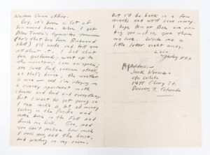 Kerouac Letter to Gabrielle July 29, 1947 Page 2