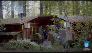 ruth weiss at her home in Albion, CA