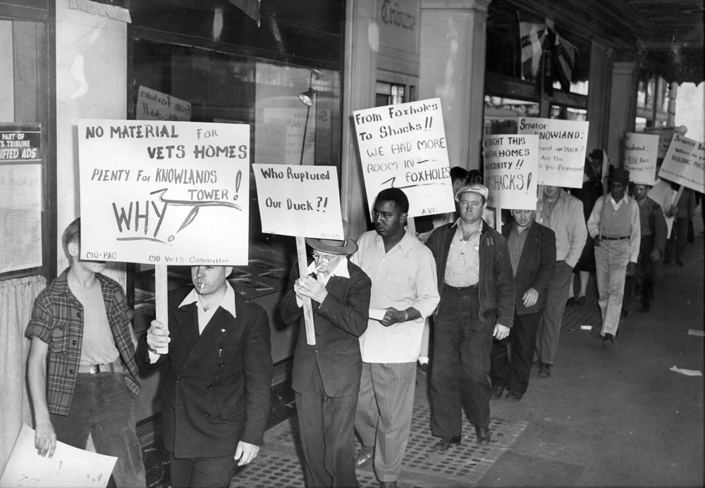 WWII vets protest lack of housing