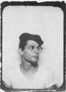 Allen Ginsberg in Merchant Marine cap