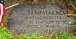 Sammy Sampas' grave