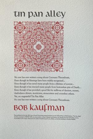 """Tin Pan Alley"" Broadside - Bob Kaufman"