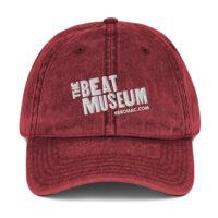 Beat Museum Red Vintage Cap
