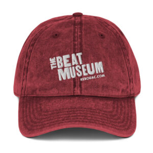Beat Museum Red Vintage Cap