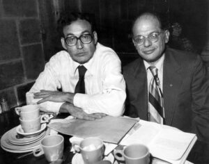 Carl Solomon and Allen Ginsberg at the West End bar, New York City, 1978, Photo: Michael Uffer