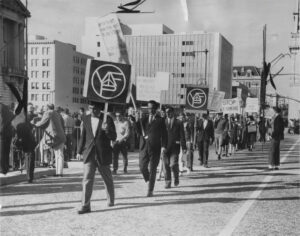 Veterans for Peace march in 1962